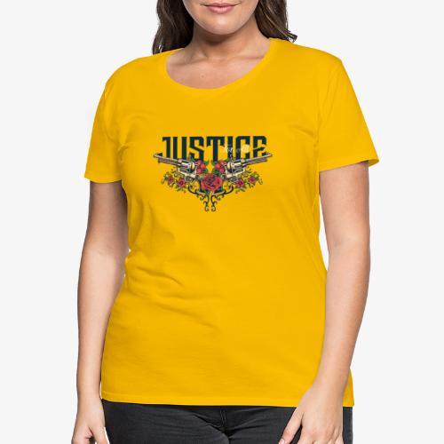 Waffen und Liebe - Frauen Premium T-Shirt