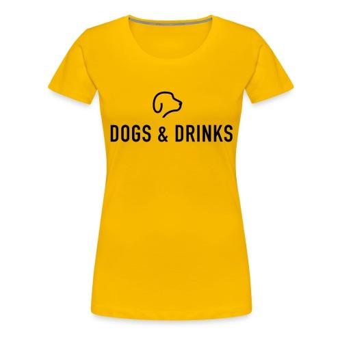 logo dogs and drinks zwart lettertype - T-shirt Premium Femme