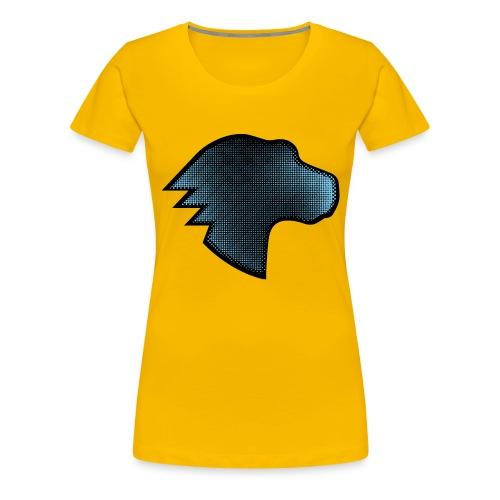 MDN Blue Gradient Dino - Women's Premium T-Shirt