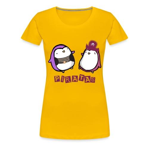PINGUINOSPIRATAS - Camiseta premium mujer