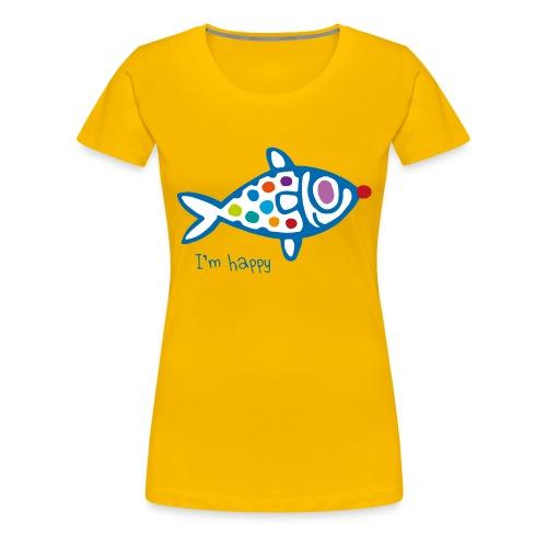 poisson HAppy - T-shirt Premium Femme