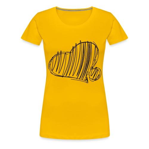 Hjertepuslebit II - Premium T-skjorte for kvinner