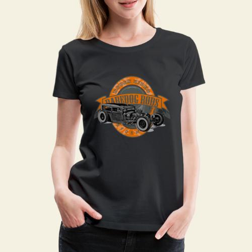 Raredog Rods Logo - Dame premium T-shirt