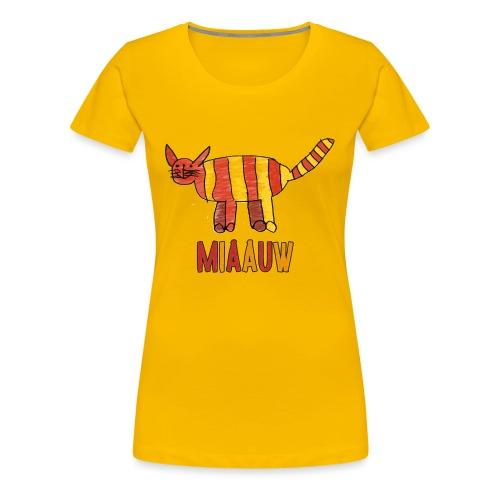 miaauw poesje - Vrouwen Premium T-shirt