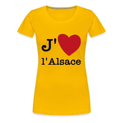 jaimealsace - T-shirt Premium Femme