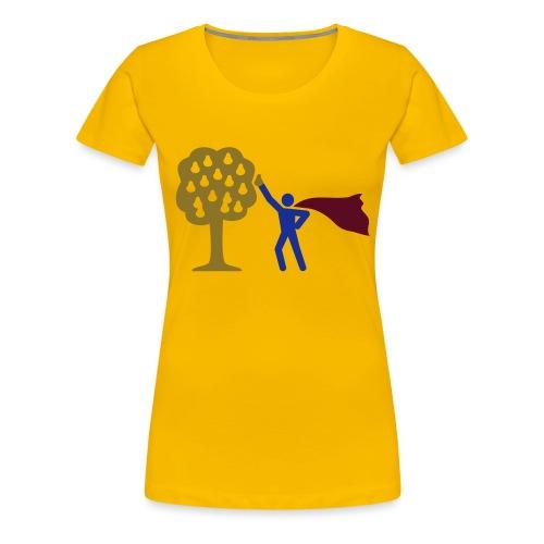 birnen pflücken HEH 3 farb vektor - Frauen Premium T-Shirt