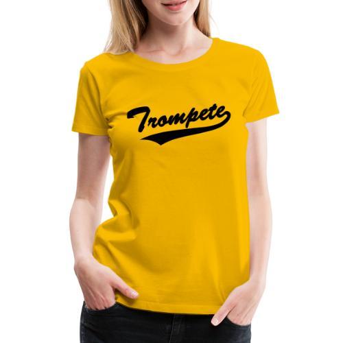 Trompete Baseball-Style - Frauen Premium T-Shirt