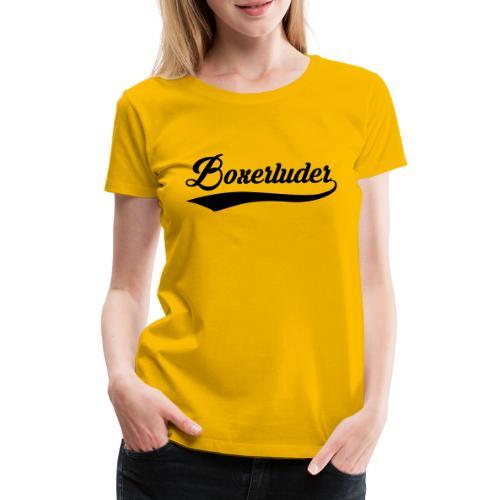 Motorrad Fahrer Shirt Boxerluder - Frauen Premium T-Shirt