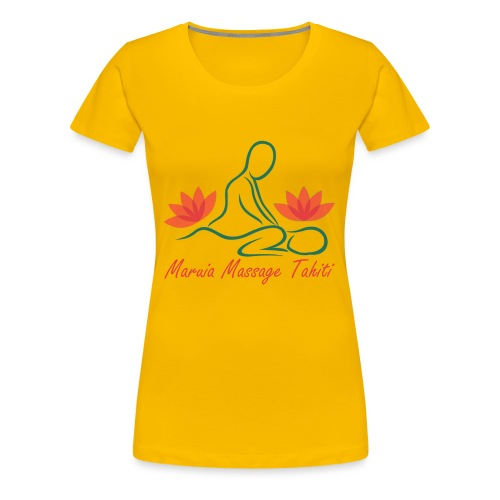 Logo de Maruia Massage Tahiti - T-shirt Premium Femme