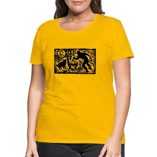 Teufel mit Katze - Frauen Premium T-Shirt