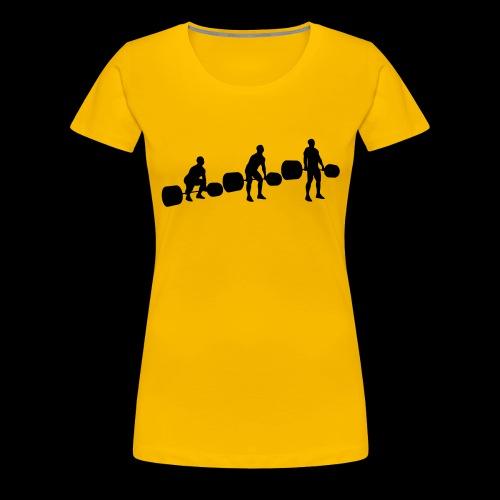 Kreuzheben Sequenz - Frauen Premium T-Shirt