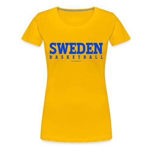 Sweden Basketball Blue - Premium-T-shirt dam