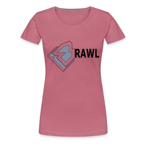 PANDA ONLY LOGO - Vrouwen Premium T-shirt