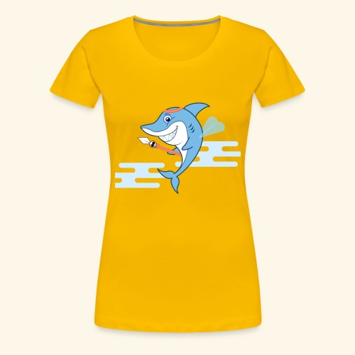 The Shark bodyguard - Women's Premium T-Shirt