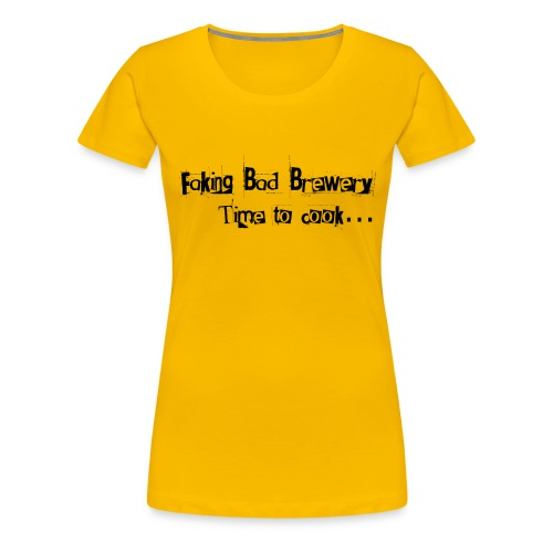 Faking Bad Brewery Text - Women's Premium T-Shirt