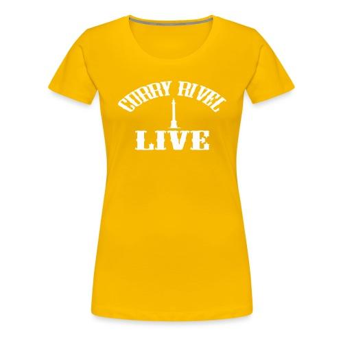 CURRY RIVEL LIVE LOGO WHITE - Women's Premium T-Shirt