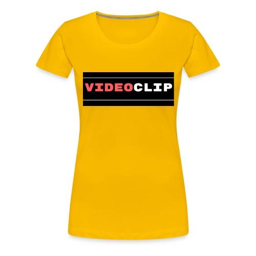 VideoClip-tekst - Vrouwen Premium T-shirt