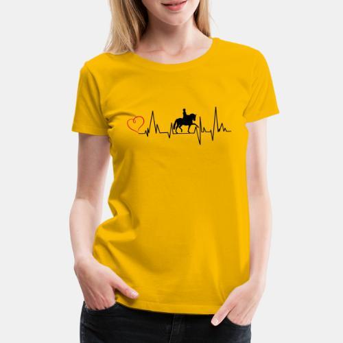 Heartbeat Dressurreiterin klassisch Herz - Frauen Premium T-Shirt