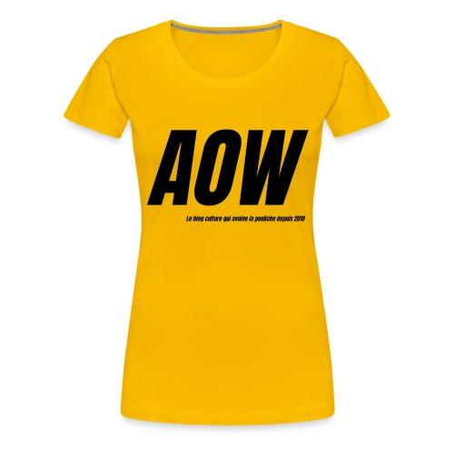 AOW 2021 - T-shirt Premium Femme