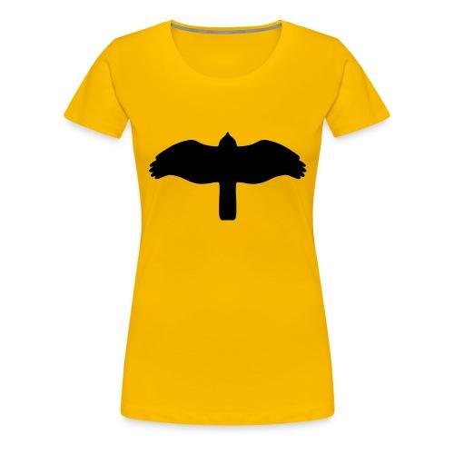 Sperber von unten schwarz - Frauen Premium T-Shirt