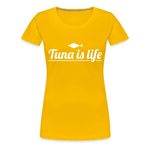 Tuna is Life Hoodie - Black - Dame premium T-shirt