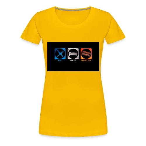eat_sleep_overclock - Camiseta premium mujer