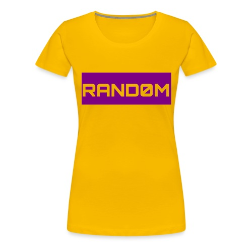 RAND0M SMALL LOGO - Women's Premium T-Shirt