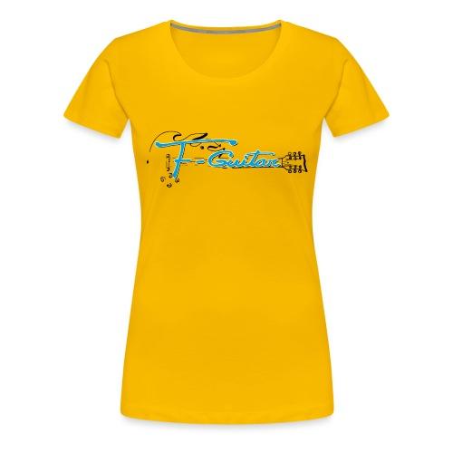 F-Guitar_fond_clair_T-Shirt - T-shirt Premium Femme
