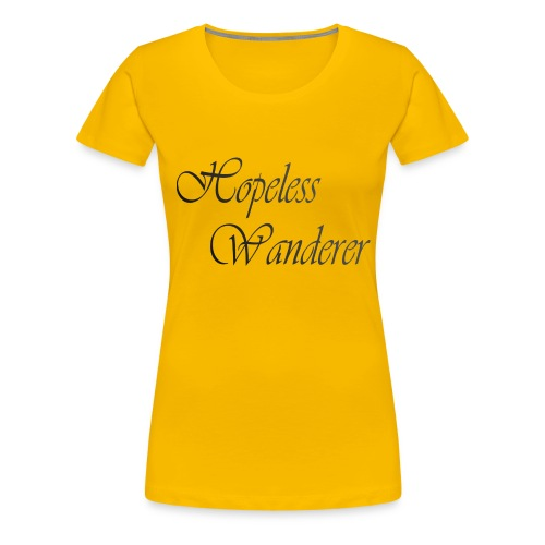 Hopeless Wanderer - Wander text - Women's Premium T-Shirt