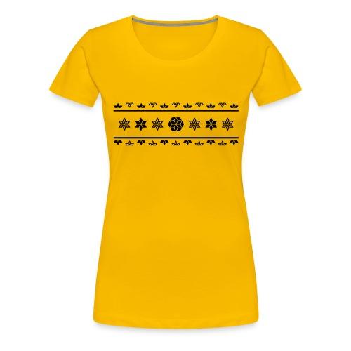 Norweger Muster Stern - Frauen Premium T-Shirt