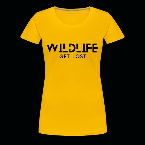 SCRITTA WILDLIFE - Maglietta Premium da donna