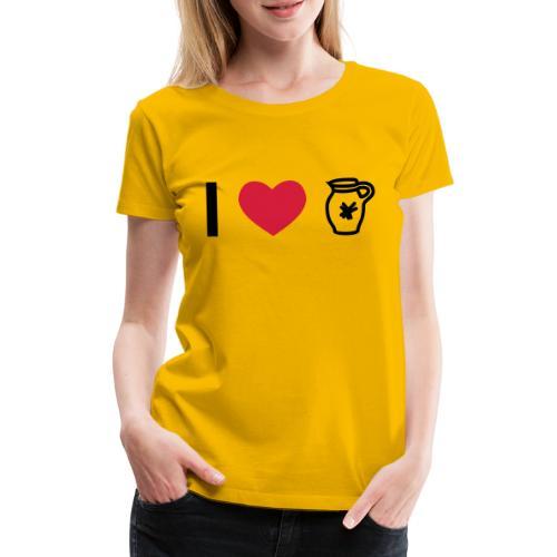 I_love_Bembel - Frauen Premium T-Shirt