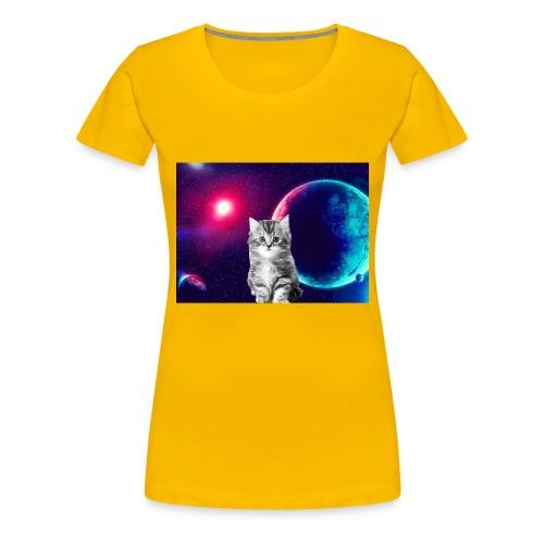 Cute cat in space - Naisten premium t-paita