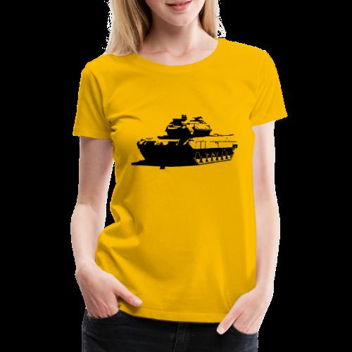 Leopard 2 Kampfpanzer - Stridsvagn 122 - Premium-T-shirt dam
