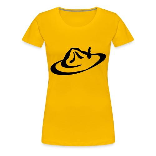 logo hoed - Vrouwen Premium T-shirt