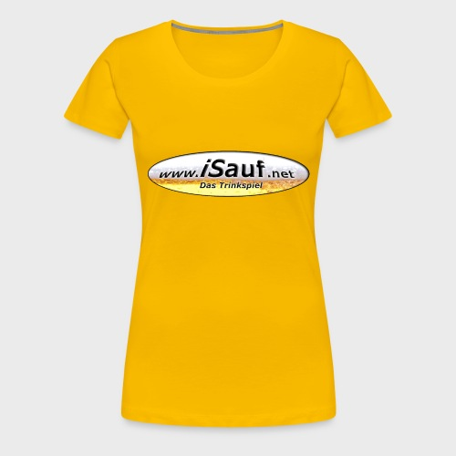 iSauf Logo - Frauen Premium T-Shirt
