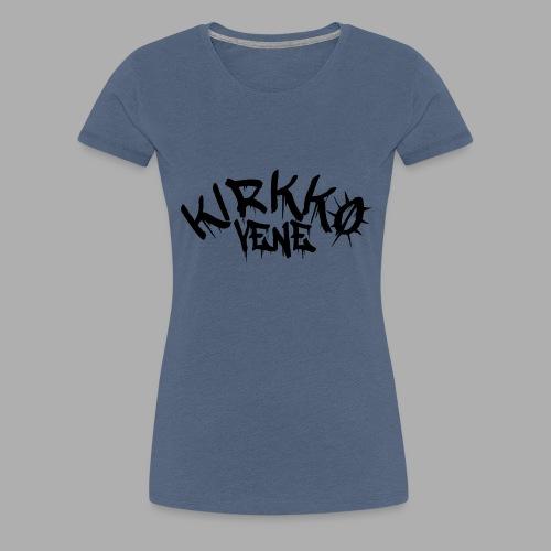 kirkkovenelogo_musta - Naisten premium t-paita