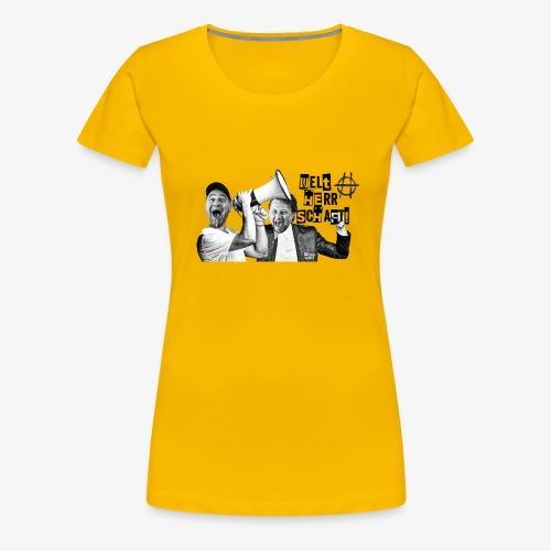 202001 Hossatalk Sticker Weltherrschaft - Frauen Premium T-Shirt