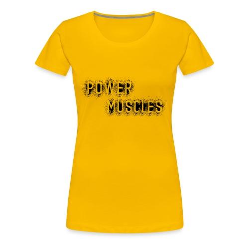 Aufschrift schwarz - Frauen Premium T-Shirt