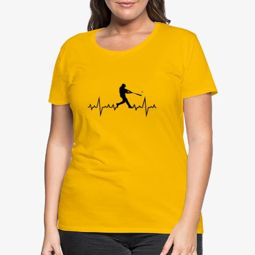 Haert line Baseball - T-shirt Premium Femme