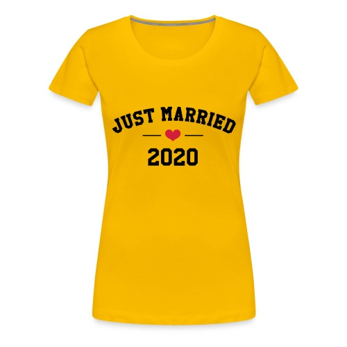 Just Married ❤️ 2020 - T-shirt Premium Femme