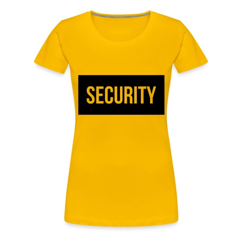 Security Balkentext groß - Frauen Premium T-Shirt