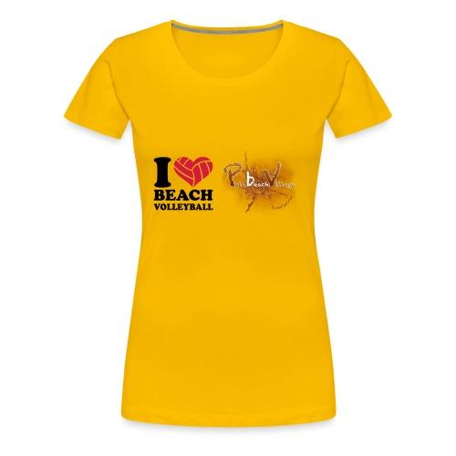I Love BeachVolley PalaBeach - Maglietta Premium da donna