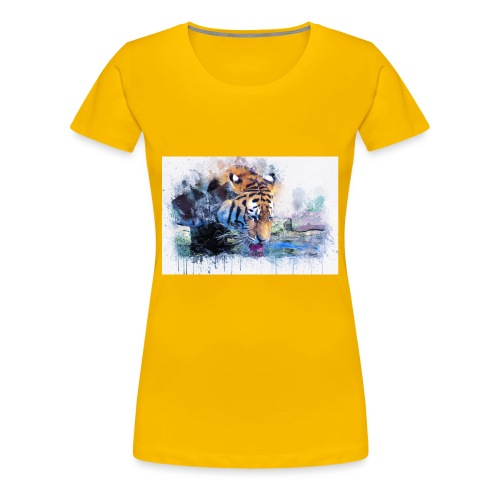 tiger drinking water - Women's Premium T-Shirt