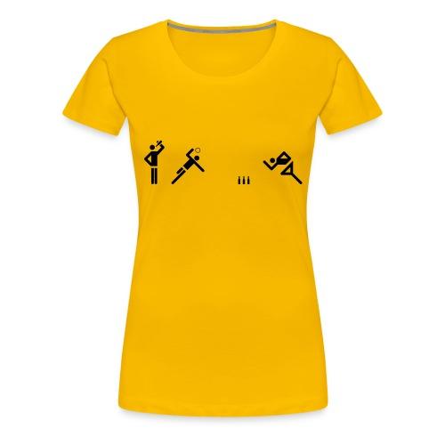Flunkyball (groß) - Frauen Premium T-Shirt