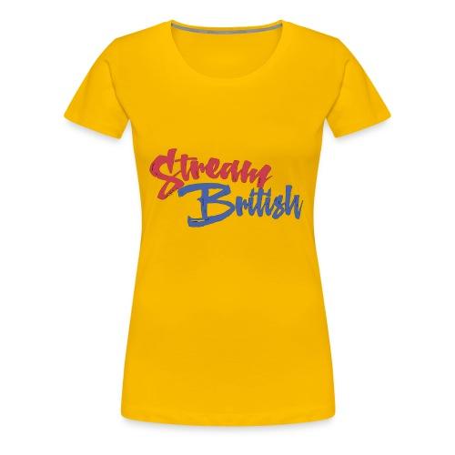 StreamBritish Logo - Women's Premium T-Shirt