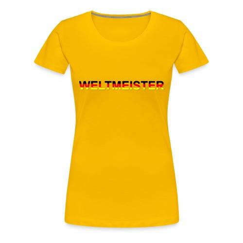 WELTMEISTER - Frauen Premium T-Shirt