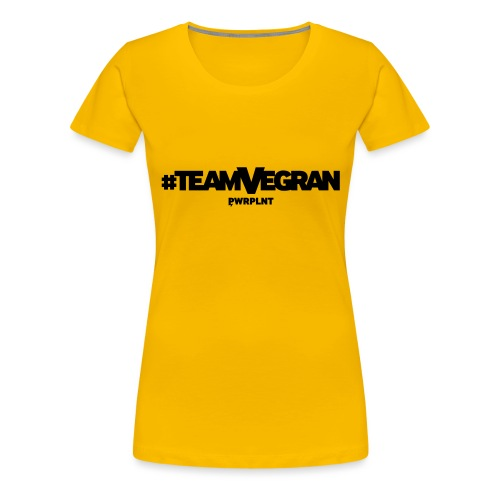 PWRPLNT TeamVegran - Frauen Premium T-Shirt