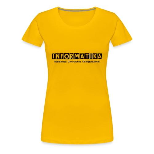 Zaino informatik@ - Maglietta Premium da donna