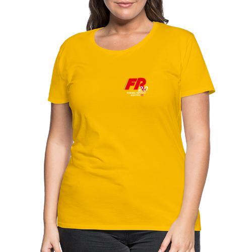 FR2.0-Logo - weiße Schrift - Frauen Premium T-Shirt